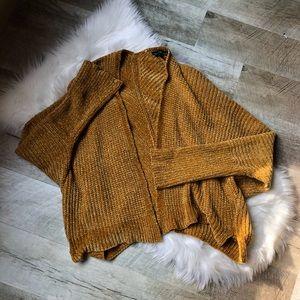 Derek Heart slouchy yellow chenille sweater